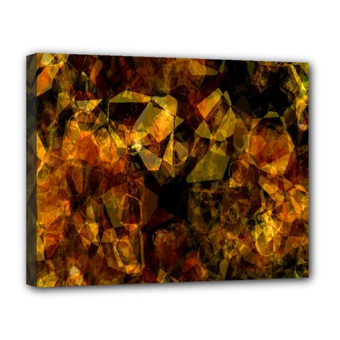 Autumn Colors In An Abstract Seamless Background Canvas 14  x 11