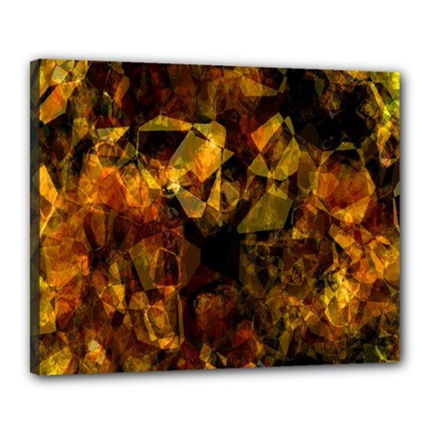 Autumn Colors In An Abstract Seamless Background Canvas 20  x 16