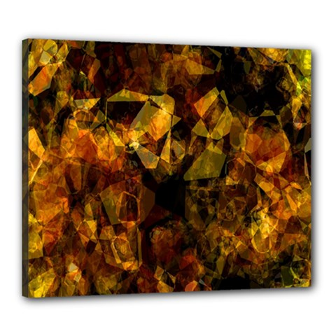 Autumn Colors In An Abstract Seamless Background Canvas 24  x 20