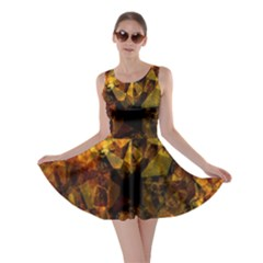 Autumn Colors In An Abstract Seamless Background Skater Dress