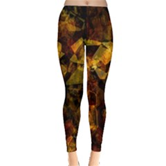 Autumn Colors In An Abstract Seamless Background Leggings