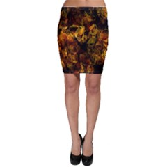 Autumn Colors In An Abstract Seamless Background Bodycon Skirt