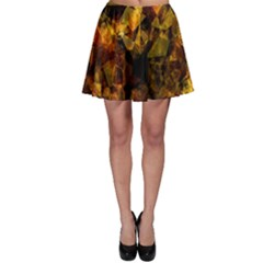 Autumn Colors In An Abstract Seamless Background Skater Skirt