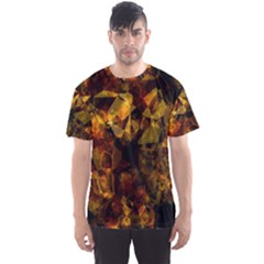 Autumn Colors In An Abstract Seamless Background Men s Sport Mesh Tee