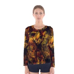 Autumn Colors In An Abstract Seamless Background Women s Long Sleeve Tee