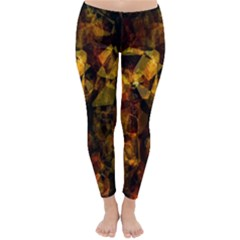 Autumn Colors In An Abstract Seamless Background Classic Winter Leggings