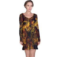 Autumn Colors In An Abstract Seamless Background Long Sleeve Nightdress
