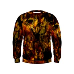 Autumn Colors In An Abstract Seamless Background Kids  Sweatshirt