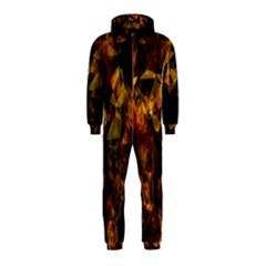 Autumn Colors In An Abstract Seamless Background Hooded Jumpsuit (kids)