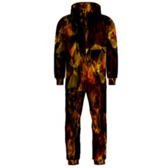 Autumn Colors In An Abstract Seamless Background Hooded Jumpsuit (men)