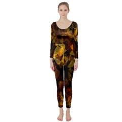 Autumn Colors In An Abstract Seamless Background Long Sleeve Catsuit