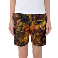 Autumn Colors In An Abstract Seamless Background Women s Basketball Shorts