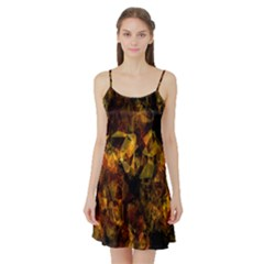 Autumn Colors In An Abstract Seamless Background Satin Night Slip