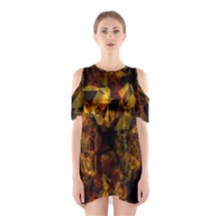 Autumn Colors In An Abstract Seamless Background Shoulder Cutout One Piece