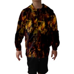 Autumn Colors In An Abstract Seamless Background Hooded Wind Breaker (Kids)