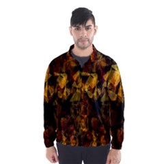 Autumn Colors In An Abstract Seamless Background Wind Breaker (Men)