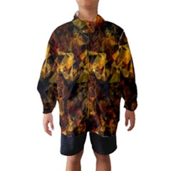 Autumn Colors In An Abstract Seamless Background Wind Breaker (Kids)