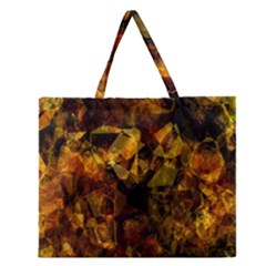 Autumn Colors In An Abstract Seamless Background Zipper Large Tote Bag