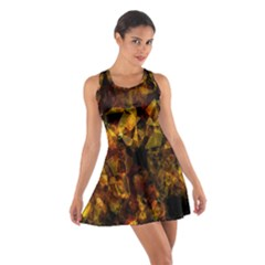 Autumn Colors In An Abstract Seamless Background Cotton Racerback Dress