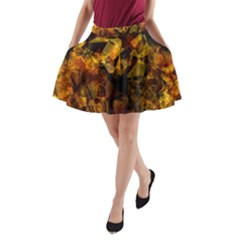 Autumn Colors In An Abstract Seamless Background A Line Pocket Skirt