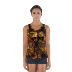 Autumn Colors In An Abstract Seamless Background Women s Sport Tank Top