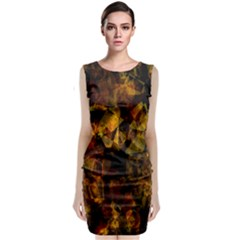 Autumn Colors In An Abstract Seamless Background Classic Sleeveless Midi Dress