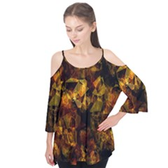 Autumn Colors In An Abstract Seamless Background Flutter Tees