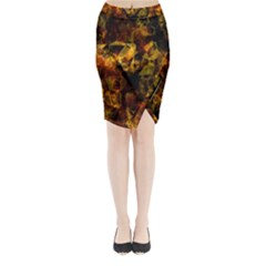 Autumn Colors In An Abstract Seamless Background Midi Wrap Pencil Skirt