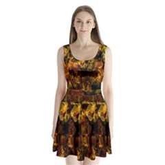 Autumn Colors In An Abstract Seamless Background Split Back Mini Dress