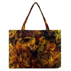 Autumn Colors In An Abstract Seamless Background Medium Zipper Tote Bag