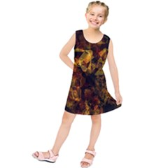 Autumn Colors In An Abstract Seamless Background Kids  Tunic Dress