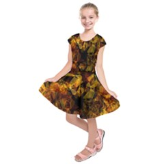 Autumn Colors In An Abstract Seamless Background Kids  Short Sleeve Dress