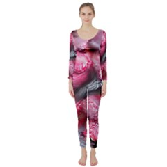 Raspberry Delight Long Sleeve Catsuit