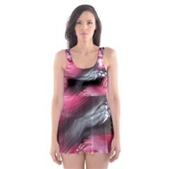 Raspberry Delight Skater Dress Swimsuit
