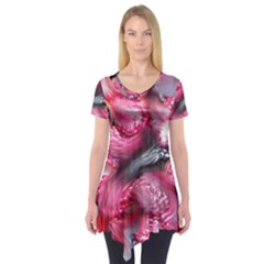 Raspberry Delight Short Sleeve Tunic