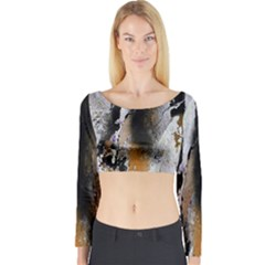 Abstract Graffiti Background Long Sleeve Crop Top