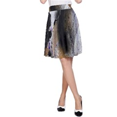 Abstract Graffiti Background A Line Skirt