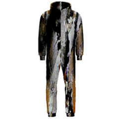 Abstract Graffiti Background Hooded Jumpsuit (men)