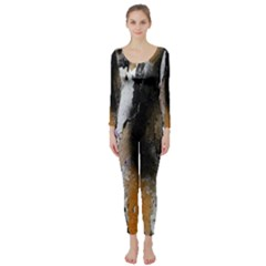 Abstract Graffiti Background Long Sleeve Catsuit