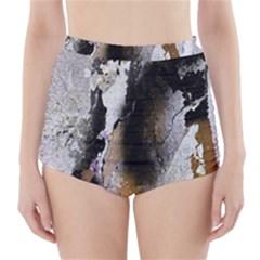 Abstract Graffiti Background High-Waisted Bikini Bottoms