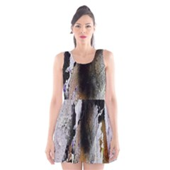 Abstract Graffiti Background Scoop Neck Skater Dress