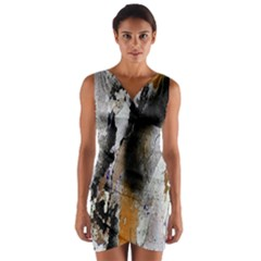 Abstract Graffiti Background Wrap Front Bodycon Dress