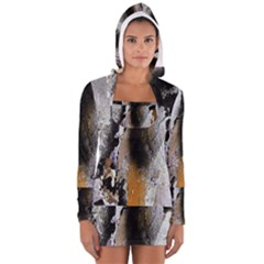 Abstract Graffiti Background Women s Long Sleeve Hooded T-shirt