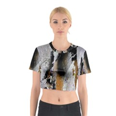 Abstract Graffiti Background Cotton Crop Top