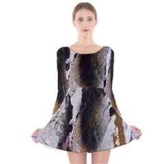 Abstract Graffiti Background Long Sleeve Velvet Skater Dress