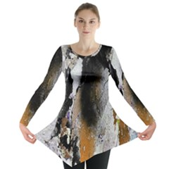 Abstract Graffiti Background Long Sleeve Tunic