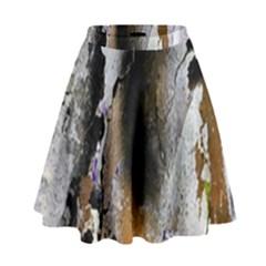 Abstract Graffiti Background High Waist Skirt