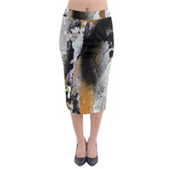 Abstract Graffiti Background Midi Pencil Skirt