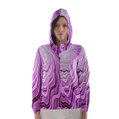 Light Pattern Abstract Background Wallpaper Hooded Wind Breaker (women)