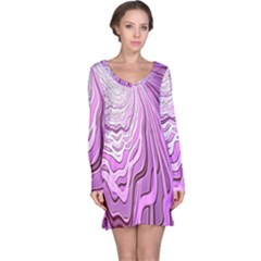 Light Pattern Abstract Background Wallpaper Long Sleeve Nightdress